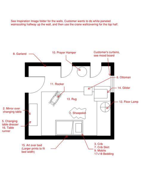 Online Designer Nursery Floorplan