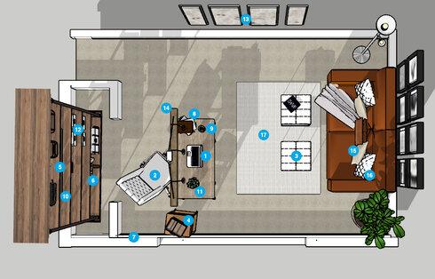 Online Designer Home/Small Office Floorplan