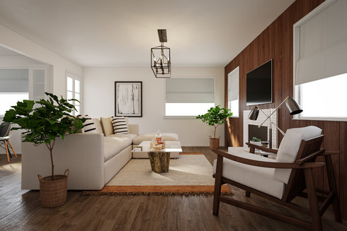 Online Designer Living Room Model