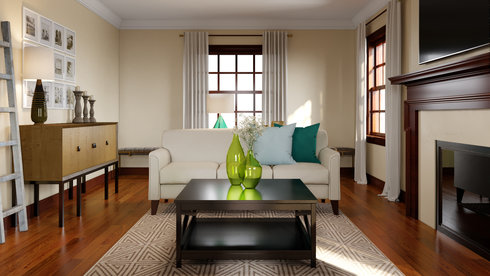 Sophisticated and Classy Living Room | Decorilla