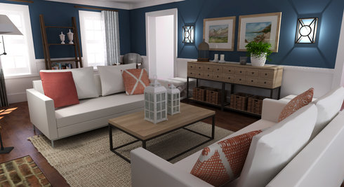 Empty Living Room 3D Model