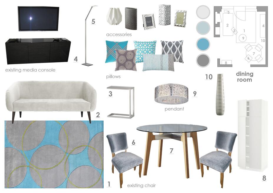 Online Designer Dining Room Moodboard