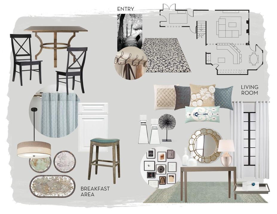Online Designer Living Room Moodboard