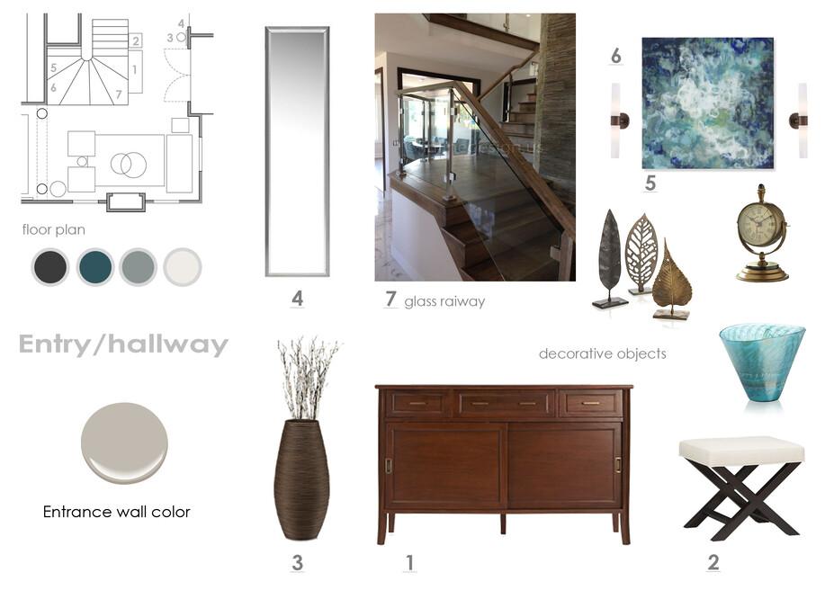 Online Designer Hallway/Entry Moodboard