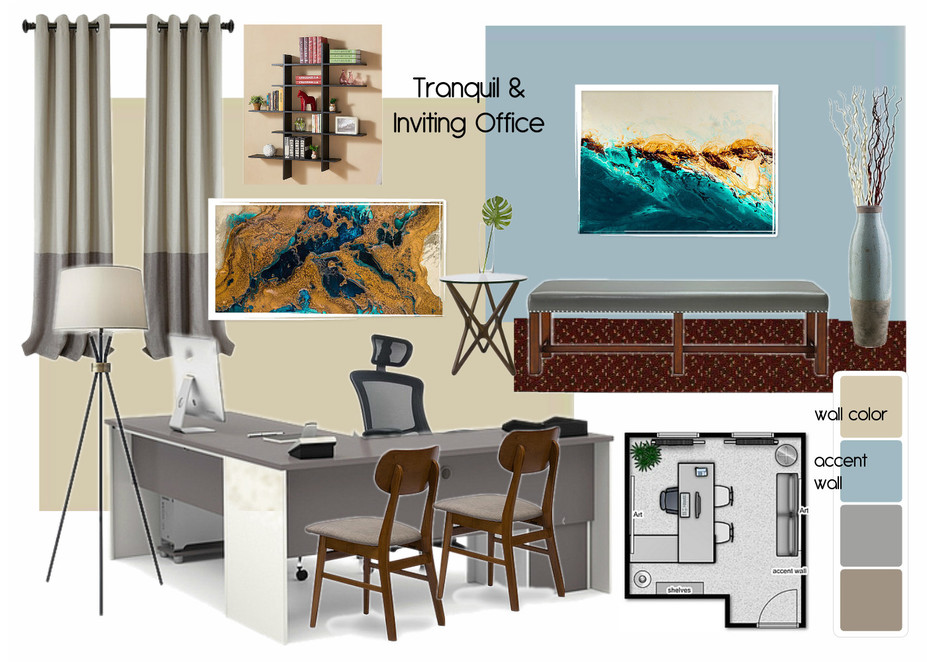Online Designer Business/Office Moodboard
