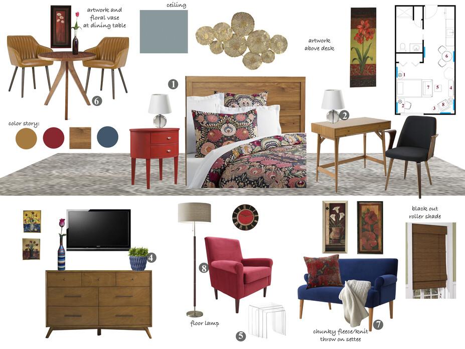 Online Designer Studio Moodboard