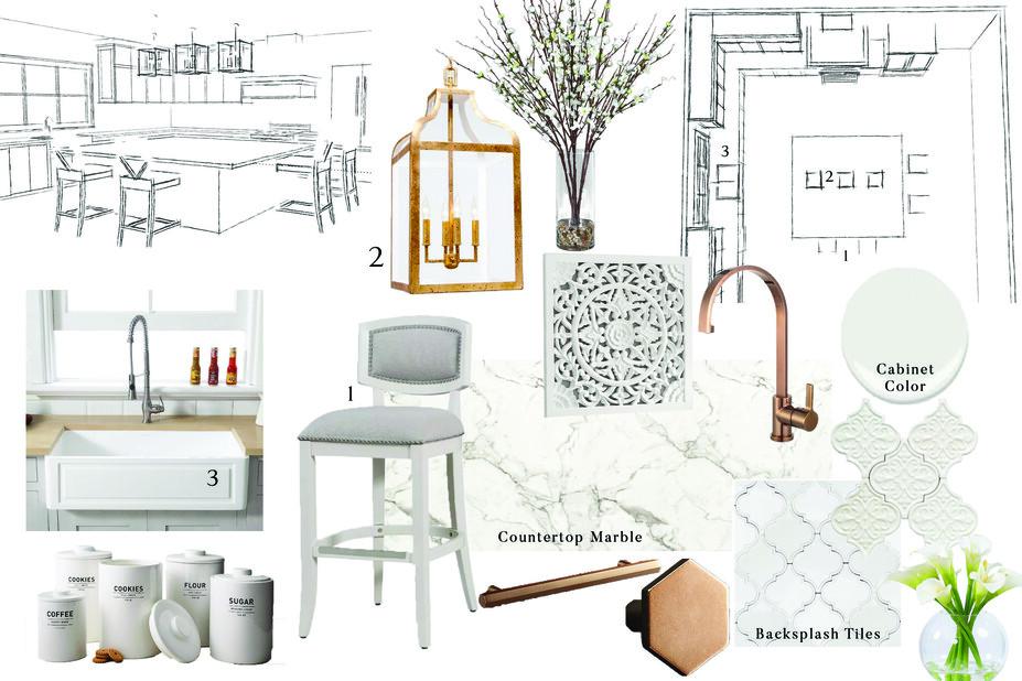 Online Designer Kitchen Moodboard