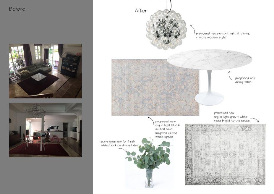 Online Designer Combined Living/Dining Moodboard