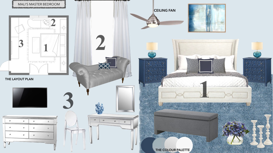 Glamorous Amp Calming Blue Bedroom Decorilla