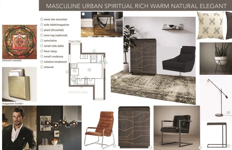 Sleek Amp Masculine Therapy Office Decorilla