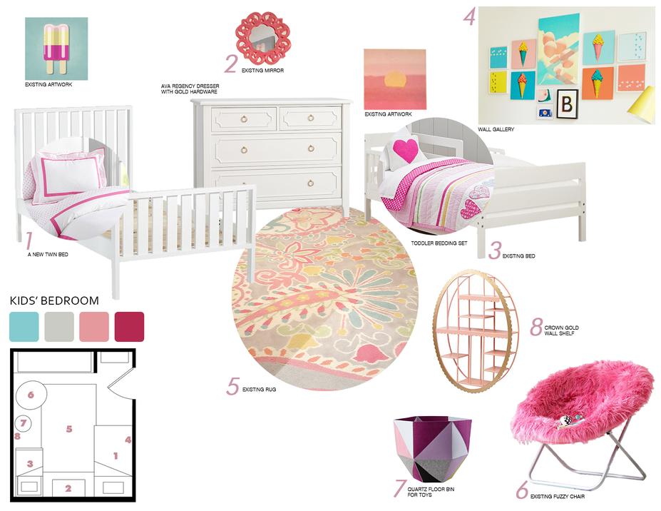 Online Designer Kids Room Moodboard