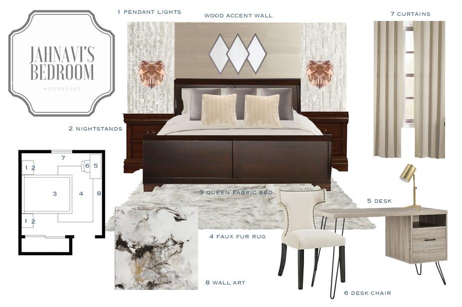 Online Designer Bedroom Moodboard