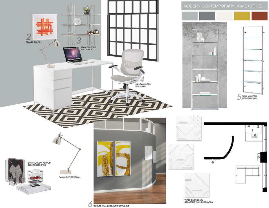 Online Designer Home/Small Office Moodboard