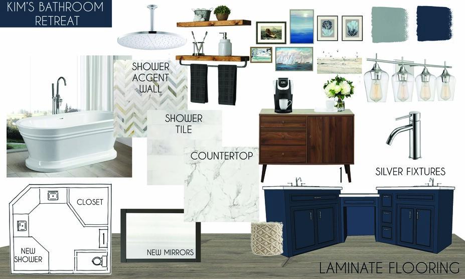 Online Designer Bathroom Moodboard