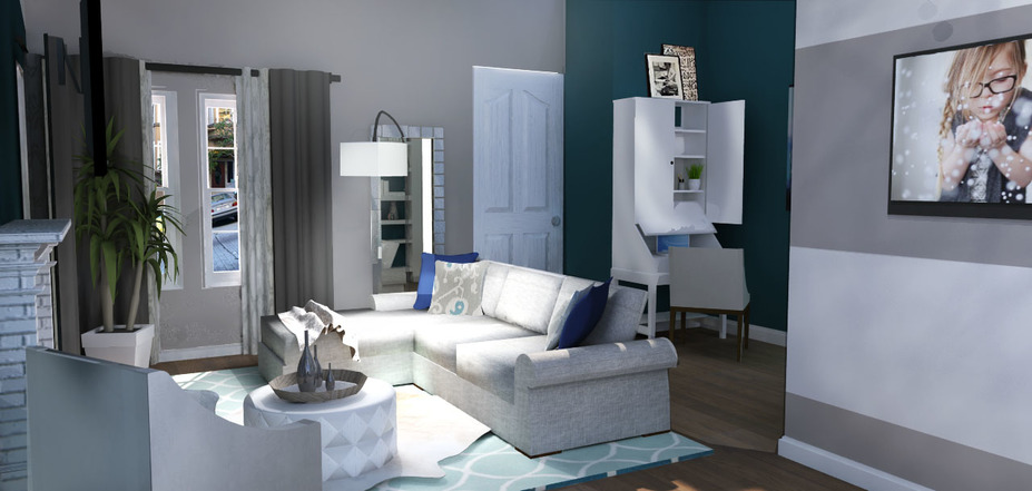 Decorate your room online our virtual room design for Multi purpose living room ideas