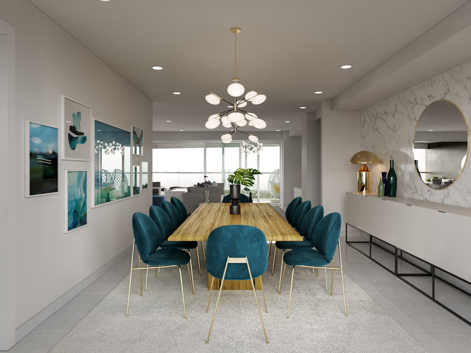 Online Designer Dining Room 3D Model