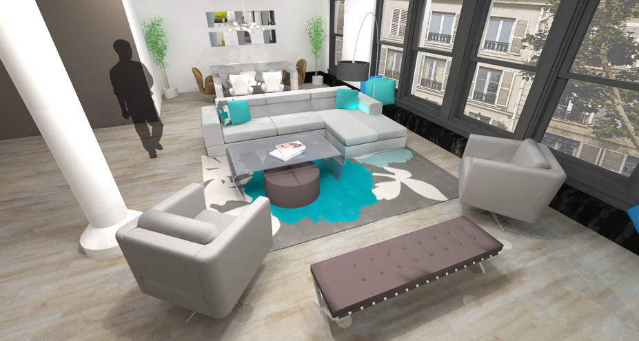 Online Designer Living Room 3D Model