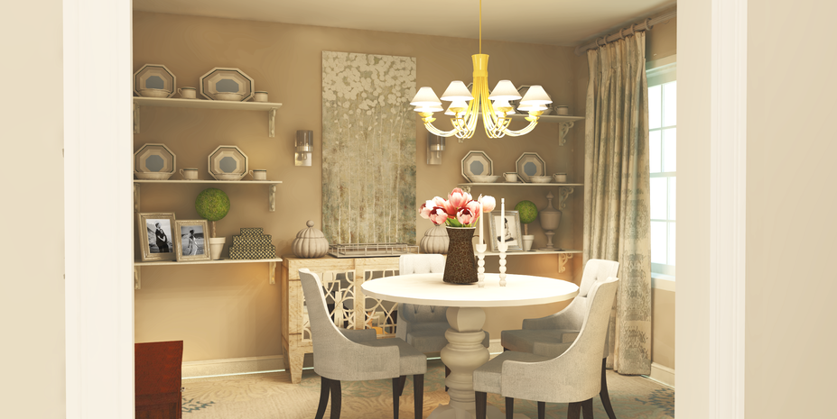 Online Designer Dining Room 3D Model