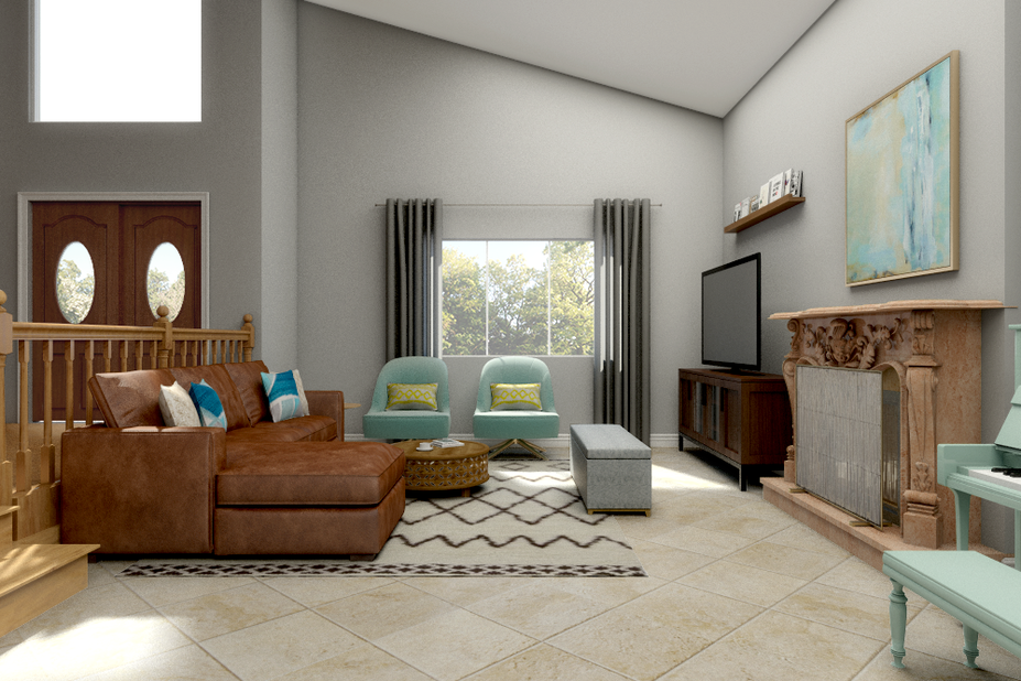 eclectic and cozy living room transformation decorilla