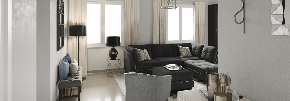 Gray Tones For Transitional Living Room Decorilla