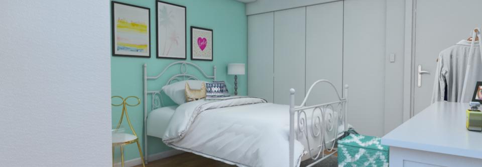 Teal Girls Bedroom Interior Design Online Decorilla Mesmerizing Designer Girls Bedroom