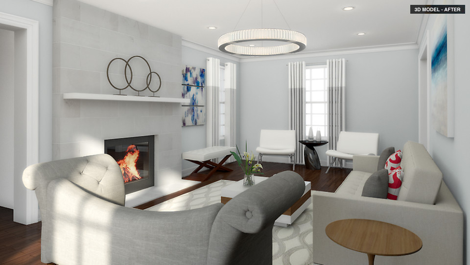 Contemporary Living Room how to get a high-end contemporary living room design on a budget