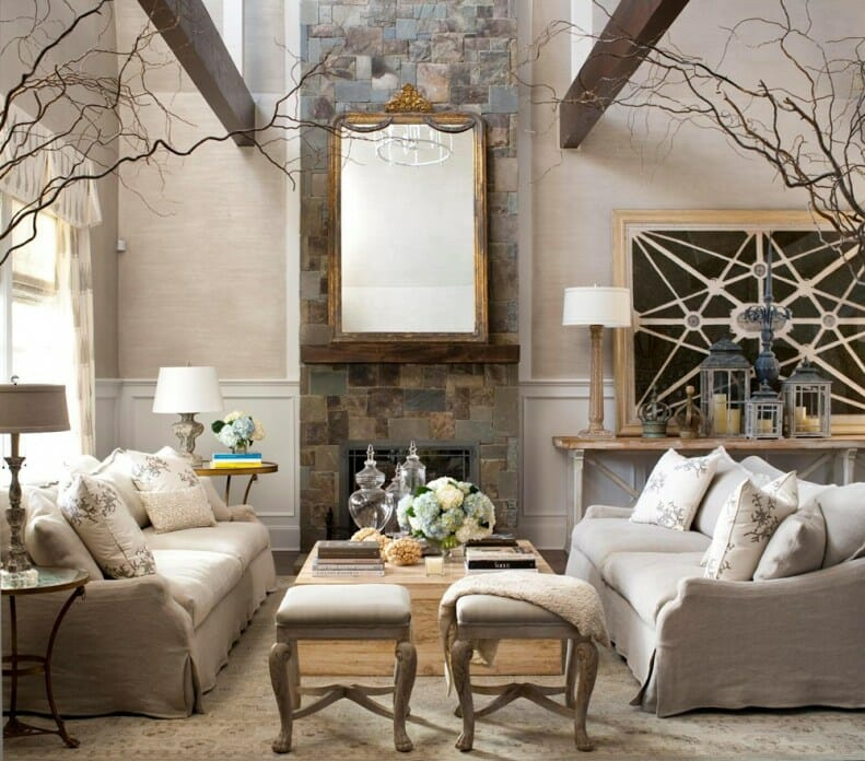 3 little known tips for decorating tall rooms decorilla - Interior design living room styles ...