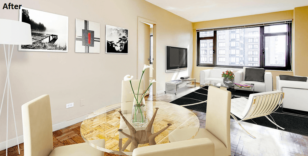 Before and After Virtual Staging from Gotham Photo