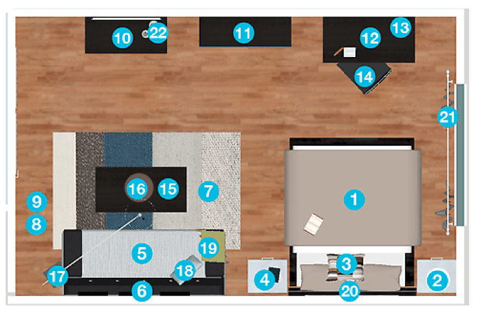 bachelor pad floor plan