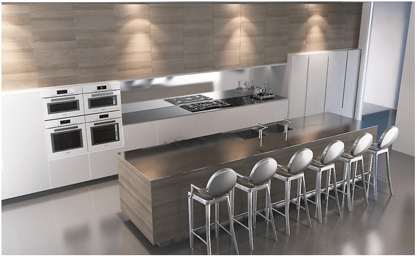 How to design a sleek contemporary kitchen online for Sleek modern kitchen ideas