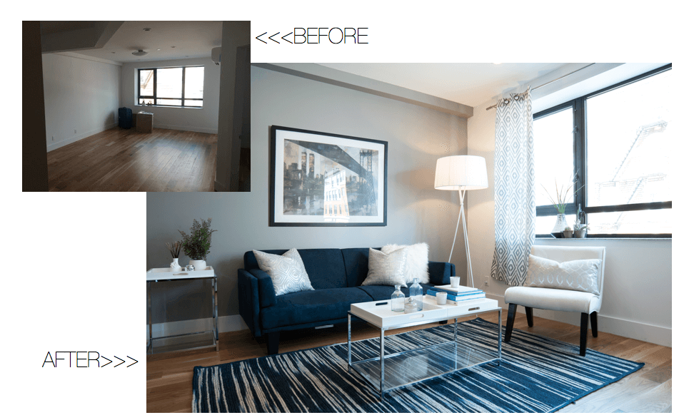 apt deco before & after