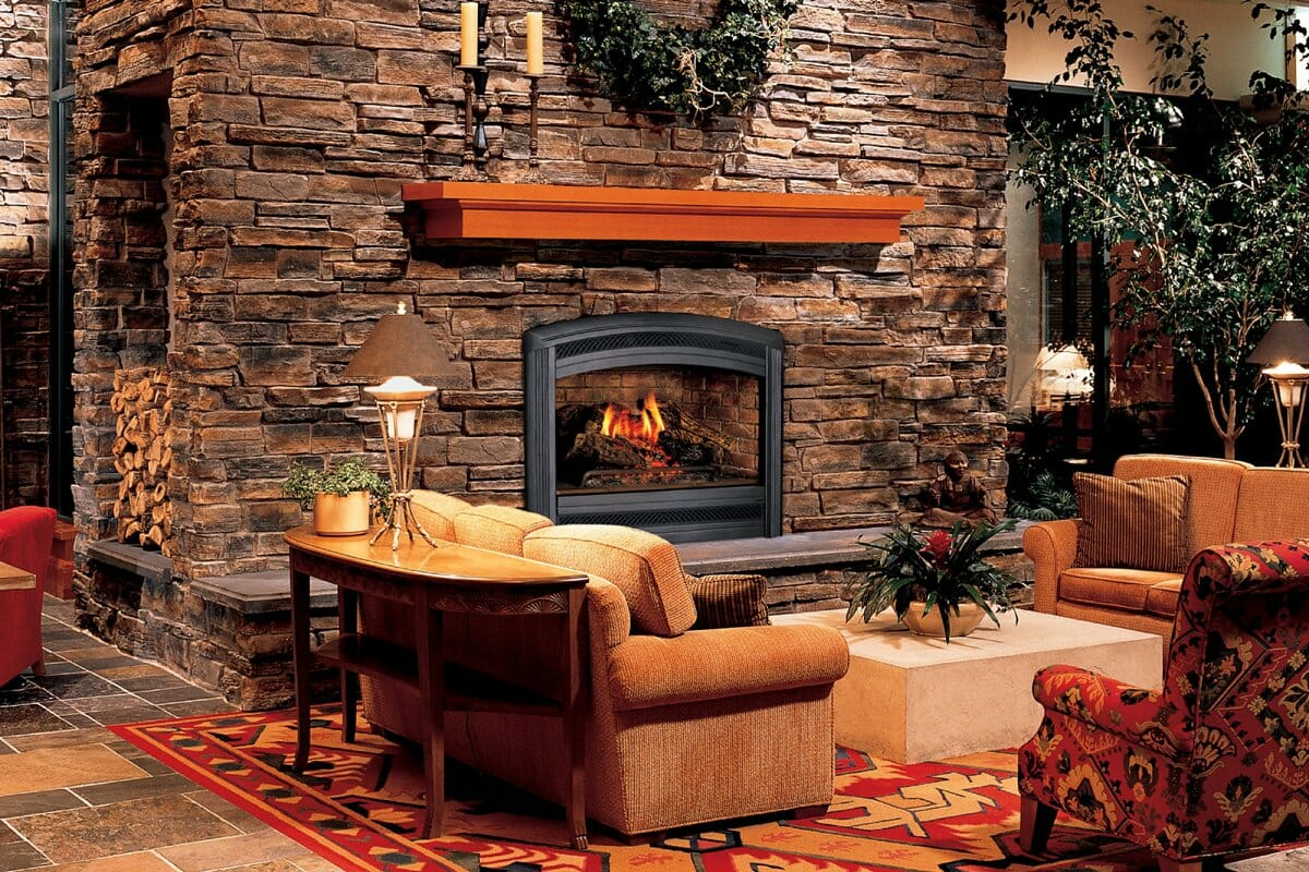 7 rustic design style must haves decorilla for Interior fireplaces designs