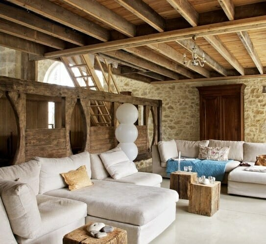 Wood Airy And Cozy Rustic Living Room Designs