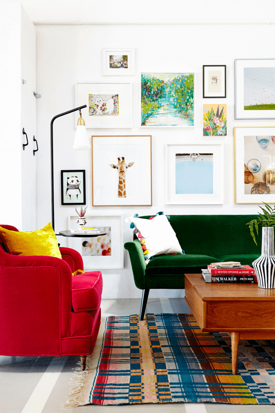 gallery wall tips bold images