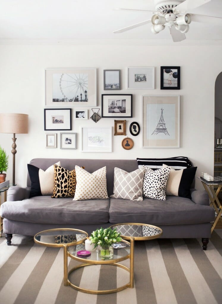 gallery wall tips fun design