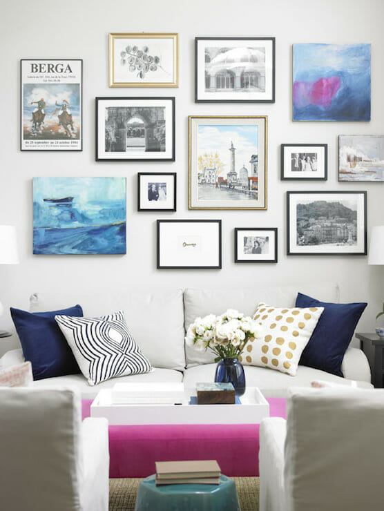 Your guide to creating the perfect gallery wall - Picture wall ideas for living room ...
