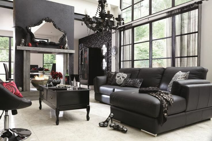 Gothic Black Living Room