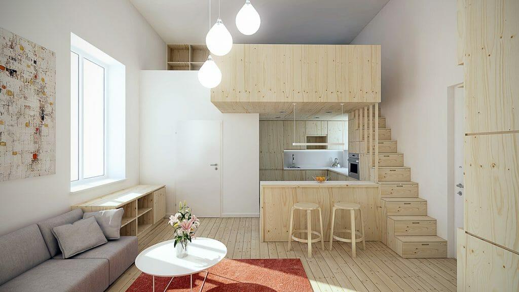 small space loft