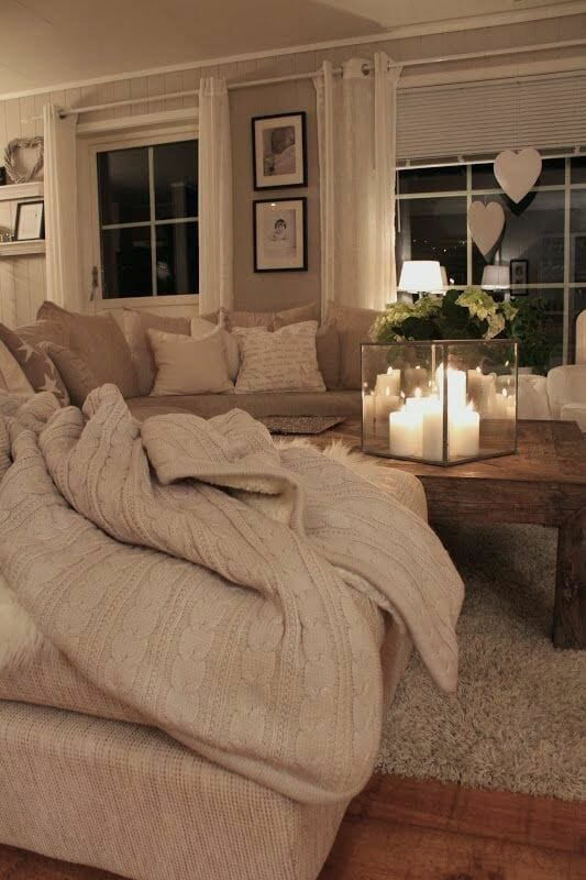 Candle Lit Living Room