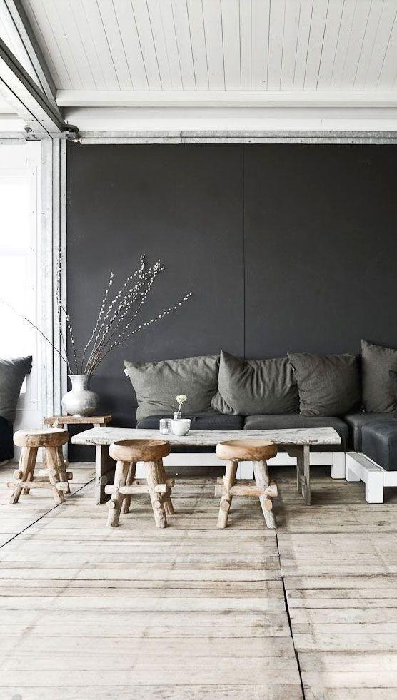 Grey-wall-and-sofa-design