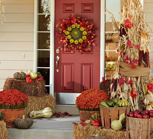 Thanksgiving decorating ideas wreath