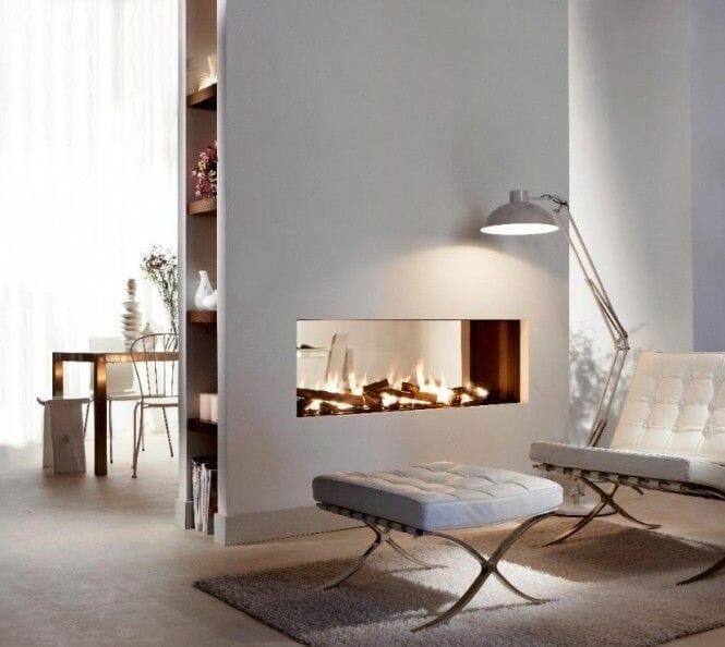 room divider fireplace