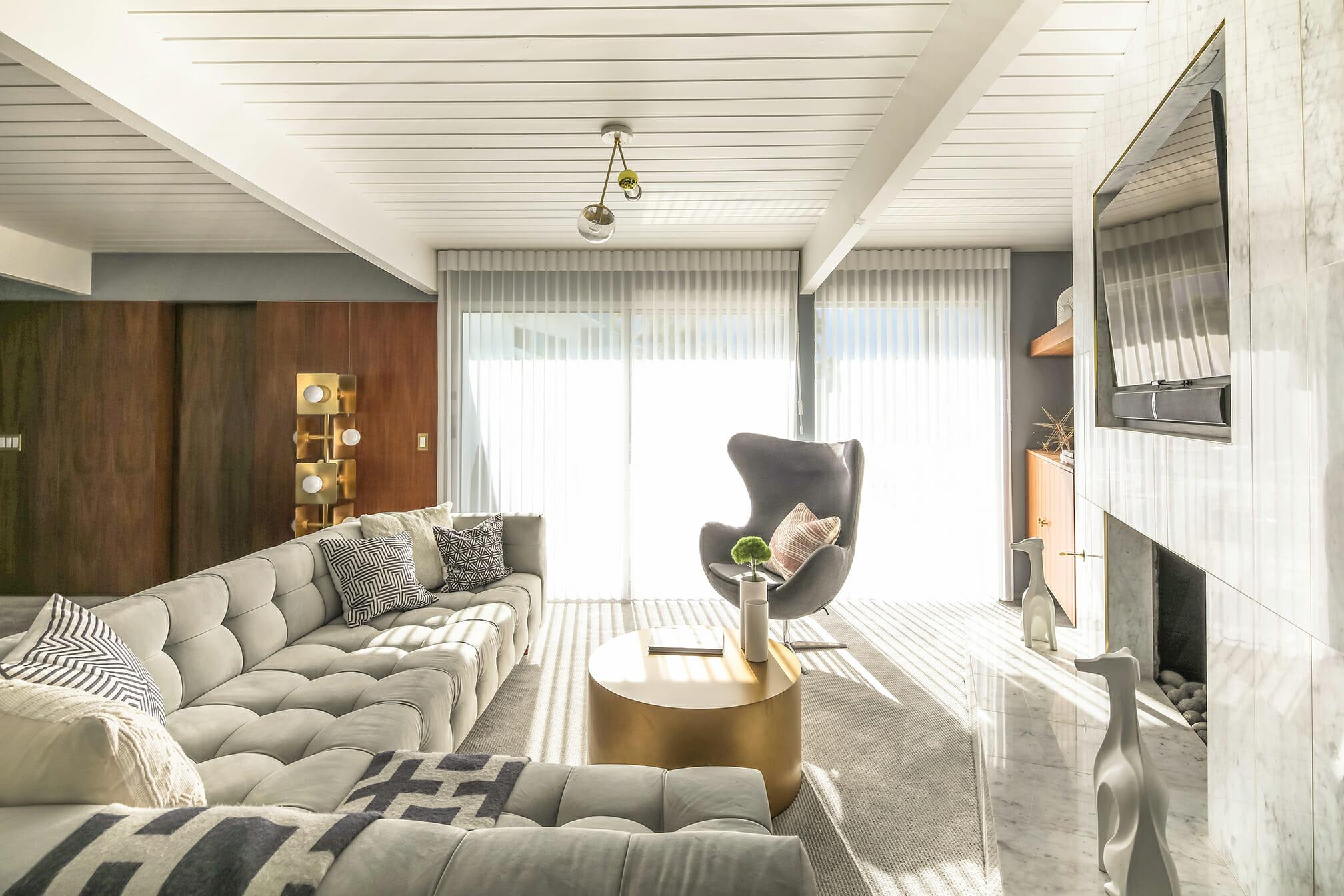 grey living room winter design trend
