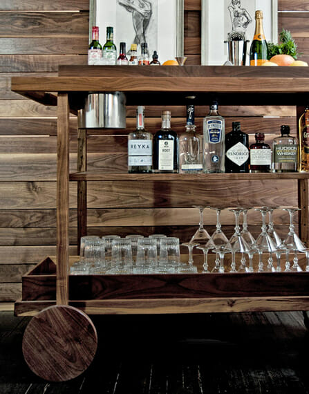 handsome bar carts