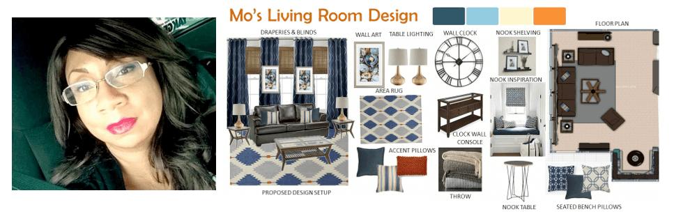 Interior designer Sharon Copeland moodboard