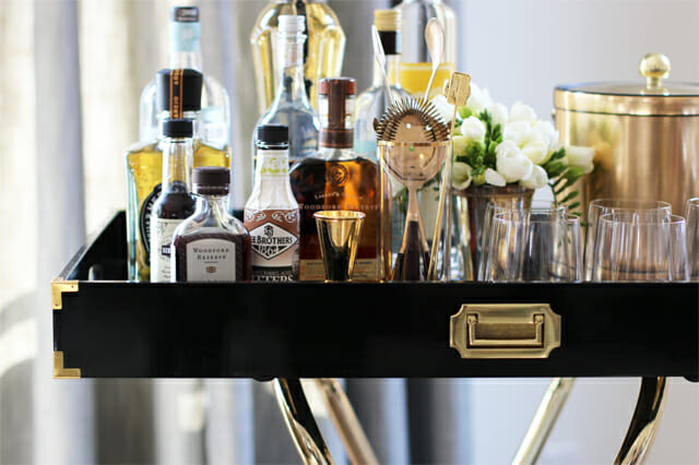 How To Style The Perfect Bar Cart Decorilla