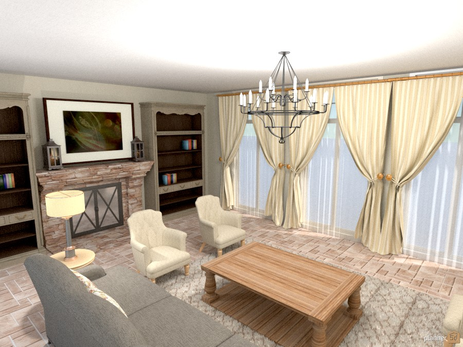 interior designer Sharon Copeland family room