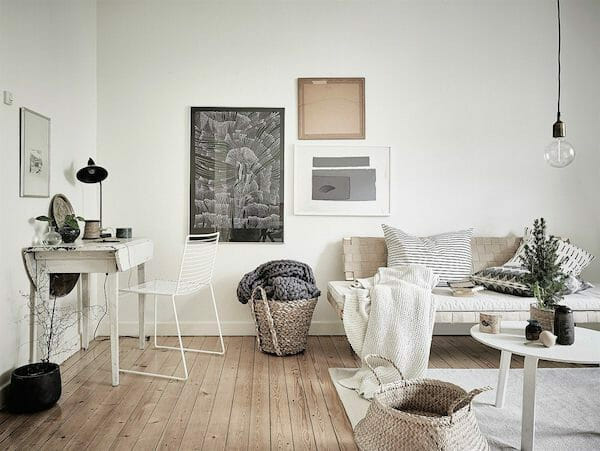 Scandinavian interior design color palette