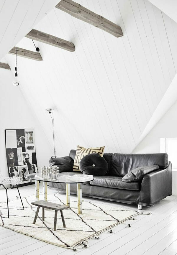 scandinavian design white walls