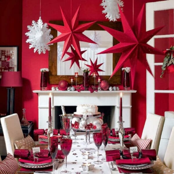 top christmas holiday decorating ideas dining table setting top christmas decorations red decor - How To Decorate Your Bedroom For Christmas